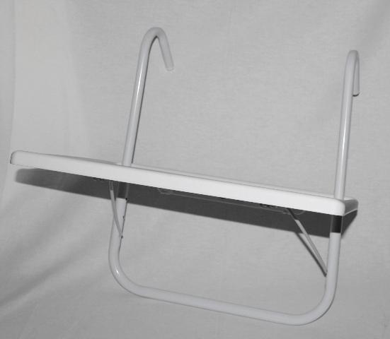 gel nder h ngetisch 52 x 40 cm balkontisch seitentisch balkon tisch wei yx ebay. Black Bedroom Furniture Sets. Home Design Ideas