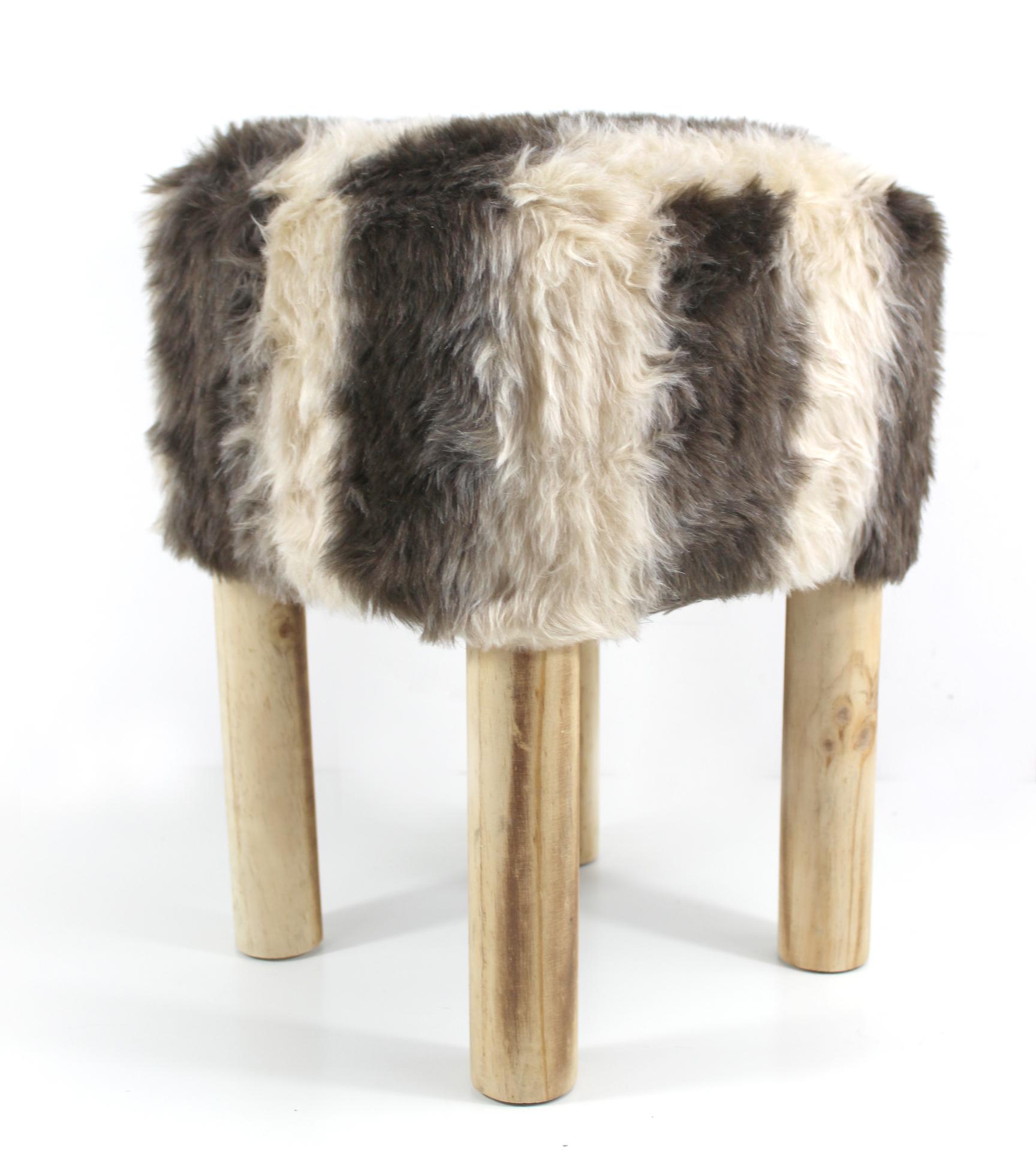 sitzhocker fellhocker holzhocker hocker fu hocker schemel. Black Bedroom Furniture Sets. Home Design Ideas